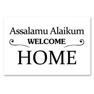 Assalamu Alaikum – Welcome Home – Canvas schilderij